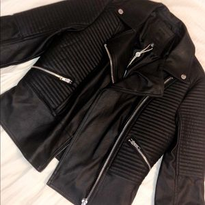 new with tags small max studio leather jacket